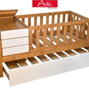 Hermosa cama multifuncional marinera y cuna con baul