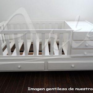 Cuna multifunción lustre blanco funciona para bebe